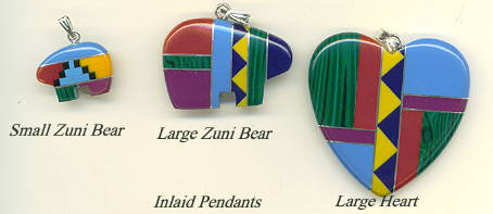 Inlaid pendants mosaic inlay inlaid with turquoise coral malachite sugilite lapis black onyx and yellow jasper small zuni bear 8x12mm 500 each large zuni bear 22x30mm mozeypictures Choice Image