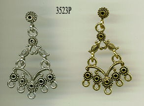 10 Raw brass Chandelier Earring Components Links MB0560 items in